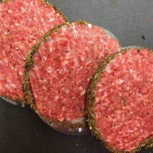 4 x 1/4lb rump steak burgers